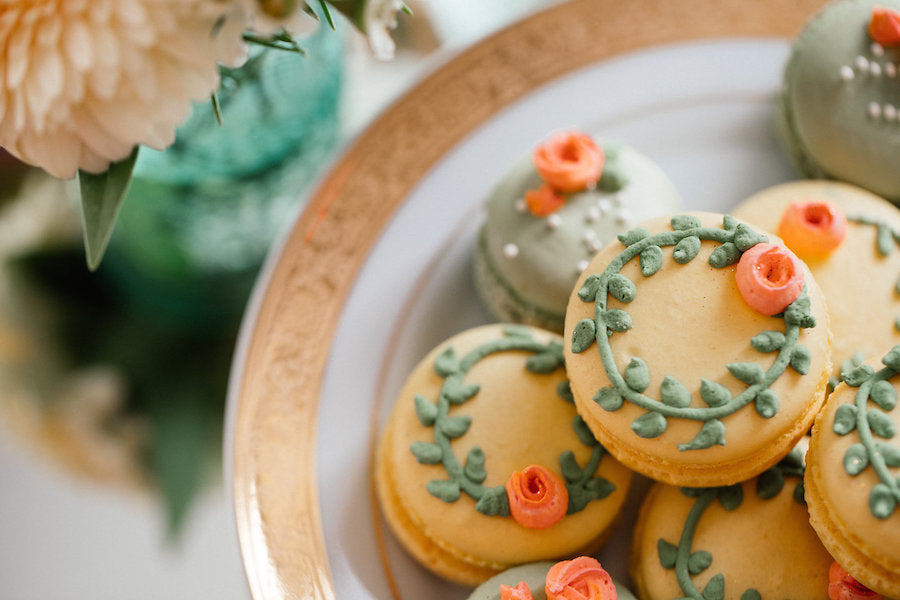 Beautifully Designed Cookies on display | Boho Styled Shoot