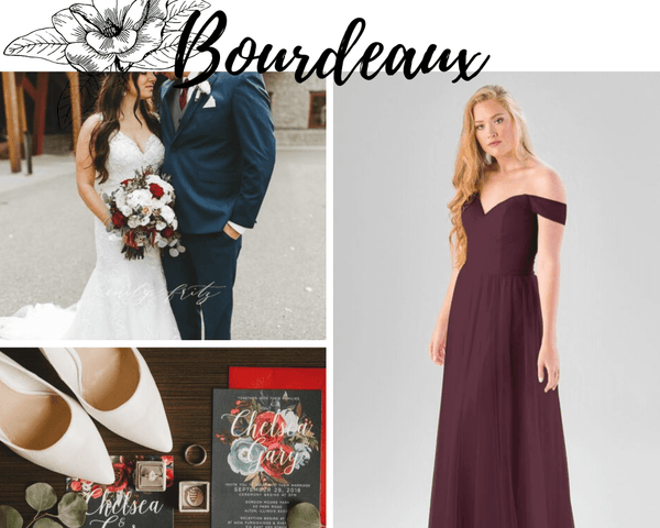 Tulle Bridesmaid Dresses | Kennedy Blue Bridesmaid Dresses Bourdeaux