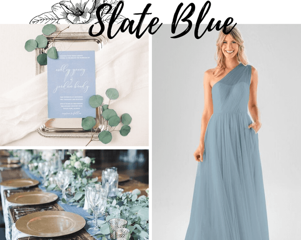 Dory Kennedy Blue Bridesmaid Dress | Tulle Bridesmaid Dresses