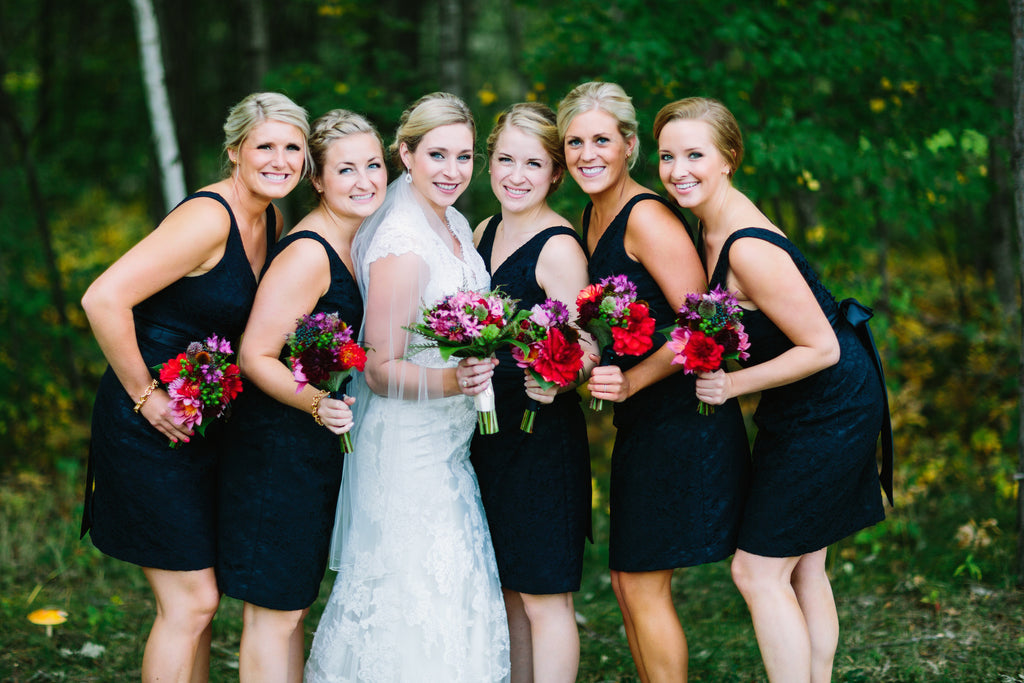 what a gorgeous bridal party! | Beautiful Navy Bridal Parties | Kennedy Blue | Tim Larsen Photography