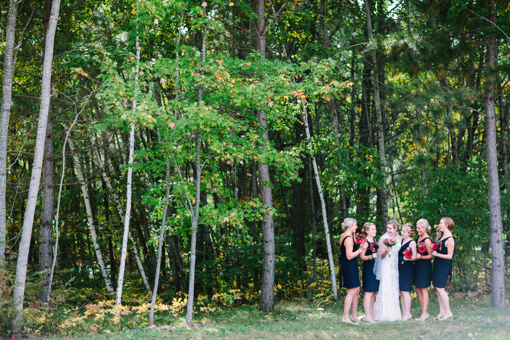 Navy lace bridesmaid dresses are a gorgeous, nautical look| A Nautical-Inspired Wedding Day