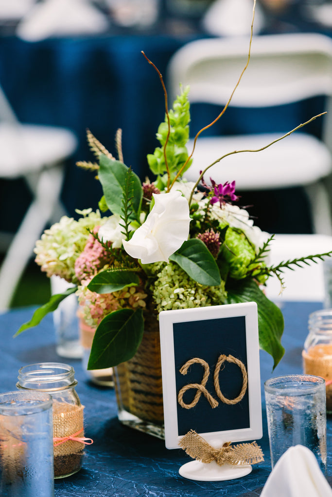 Reception centerpeices | A Nautical-Inspired Wedding Day
