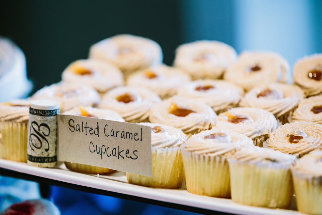 Salted Caramel Cupcakes for a wedding reception | A Nautical-Inspired Wedding Day