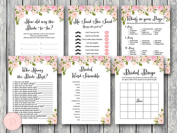 picture about Guess How Many Kisses for the Soon to Be Mrs Free Printable called 52 Remarkable Bridal Shower Programs Kennedy Blue