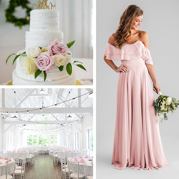 Kennedy Blue Bridesmaids Dresses Blush Pink