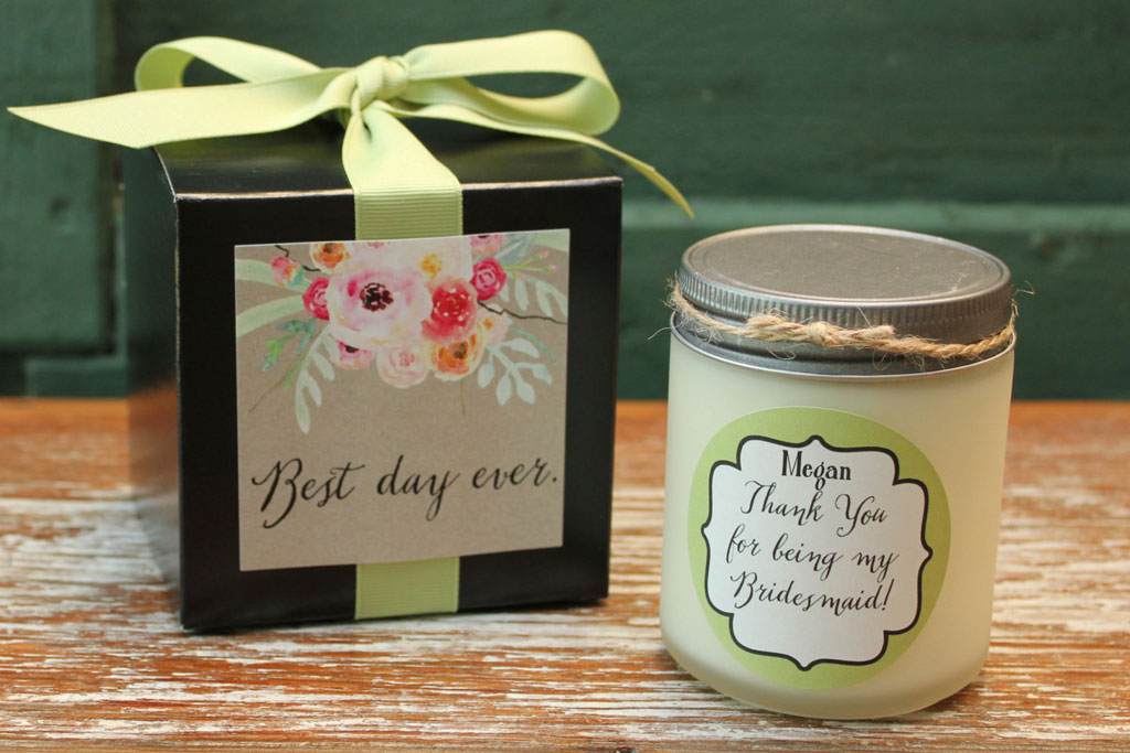 A bridesmaid thank you candle by LuluSugar