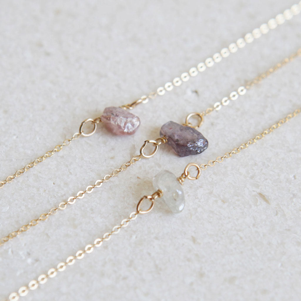 Dainty stone necklaces by LEILAjewelryshop