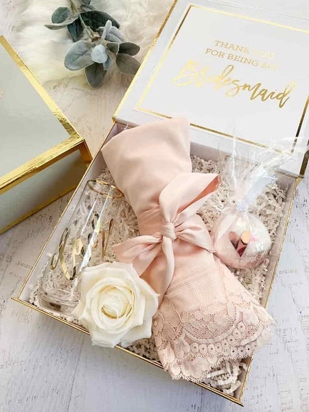 Bridesmaid Proposal Box with Bridesmaid Robe