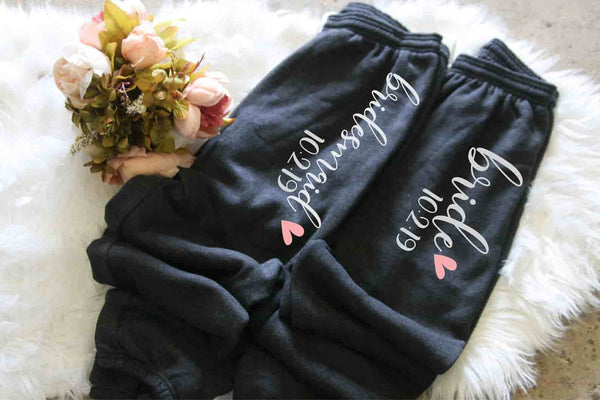 Bridesmaid Sweatpants Personalized