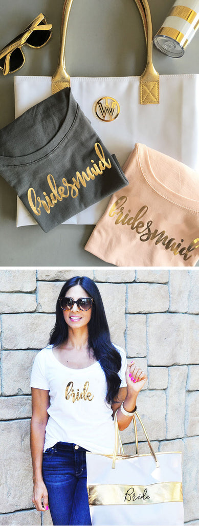 Cute matching bridesmaid shirts! | Bridesmaid Gifts Your Girls Will Love | Kennedy Blue | ModParty