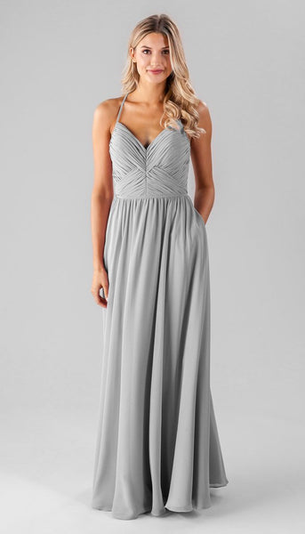 Kennedy blue Caitlin | Long Grey Bridesmaid Dresses