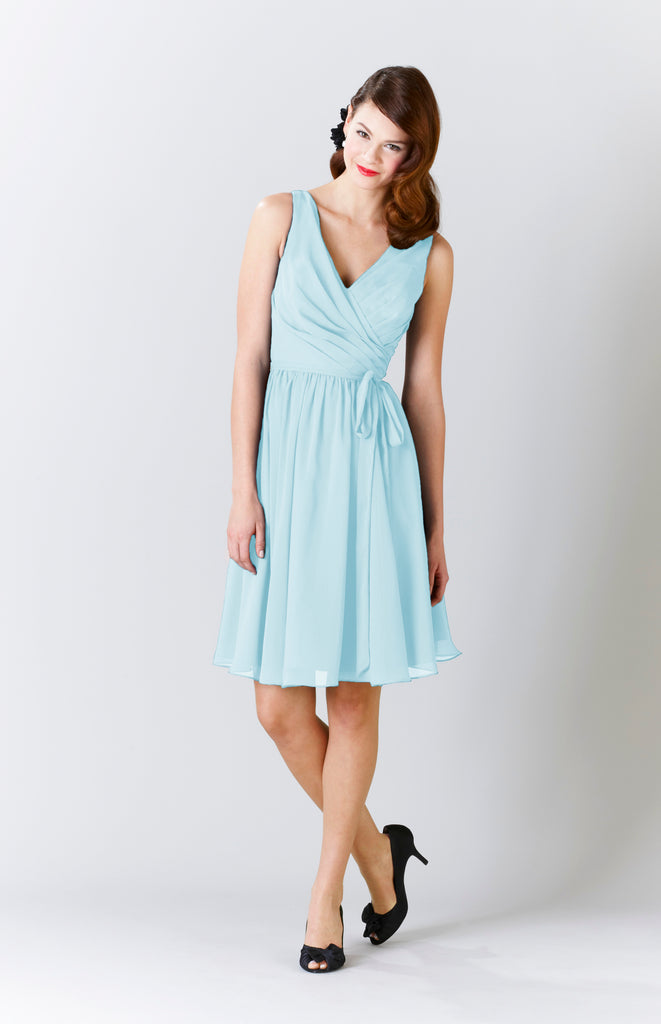 Kennedy Blue Chiffon Chloe Bridesmaid Dress in Mint