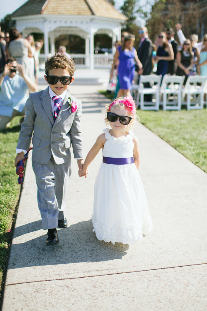 The adorable flower girl and ring bearer. | An East Coast Wedding in Mismatched Bridesmaid Dresses