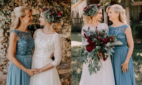 Dusty Blue Mother of the Bride Dress