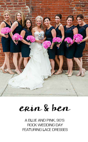 Real Wedding: A Blue and Pink Rock n Roll Wedding