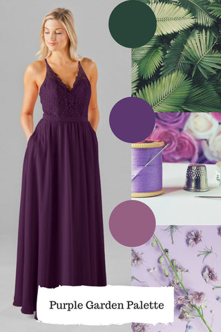 eggplant dress for dusty purple wedding