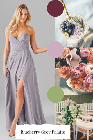 French lilac dress for dusty purple wedding