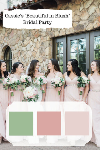 dusty rose wedding pink bridesmaid dresses