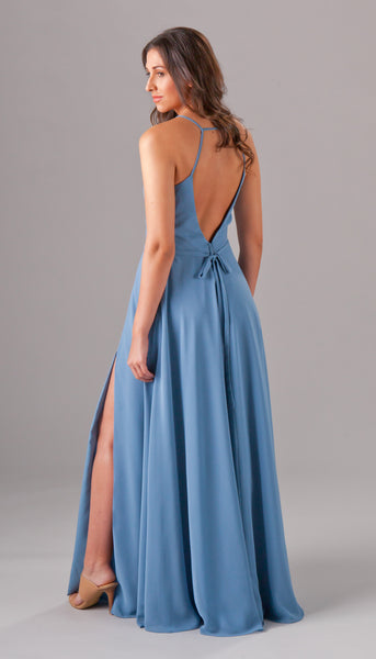 Simple with a beautiful open back, Elizabeth is a beautiful boho bridesmaid dress | Kennedy Blue