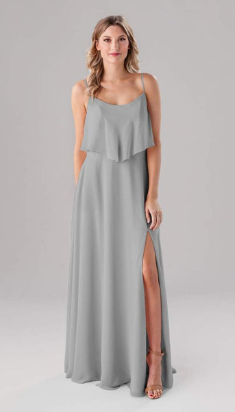 Kennedy Blue Ella | Long Grey Bridesmaid Dresses