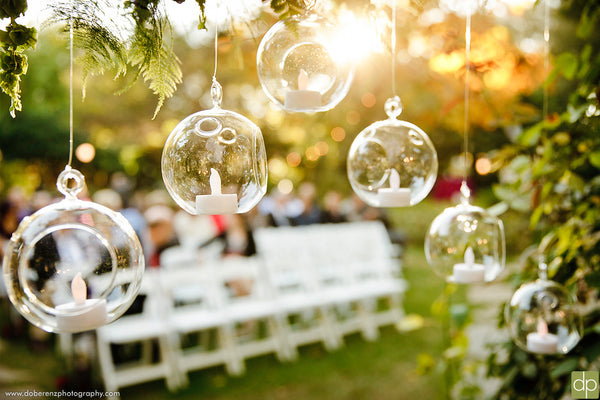 #12: Have lights or candles to brighten up the evening | 220 Outdoor Wedding Planning Tips You Need To Know