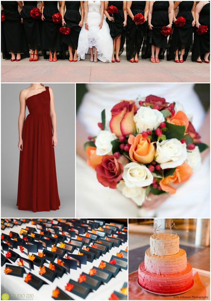 Claret Wedding Color Palettes That are Vibrant for Fall