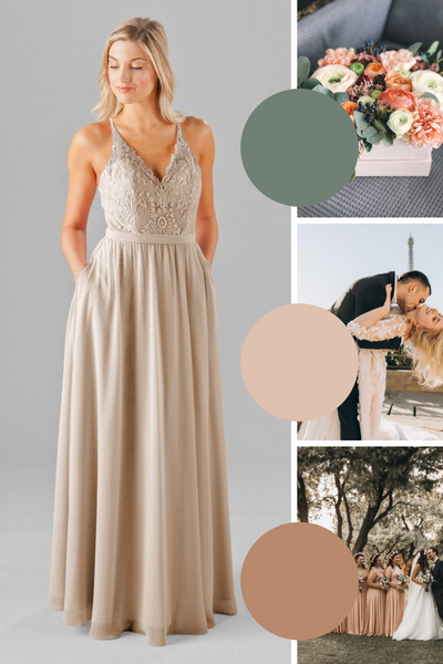 Iris Kennedy Blue Bridesmaid Dresses | Fall Wedding Colors