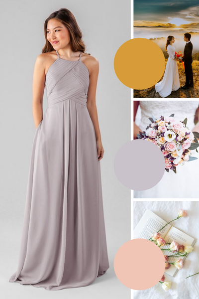 Milly Kennedy Blue Bridesmaid Dresses | Fall Wedding Colors