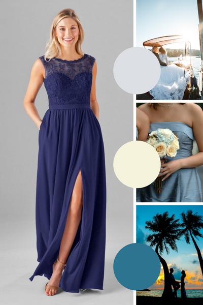Jade Kennedy Blue Bridesmaid Dresses | Fall Wedding Colors