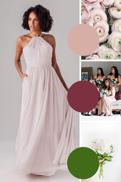 James Kennedy Blue Bridesmaid Dresses | Fall Wedding Colors