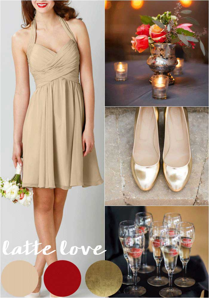 Latte and Crimson Red | Our 4 Favorite Fall Wedding Color Palettes