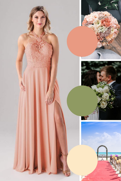 Clara Kennedy Blue Bridesmaid Dresses | Fall Wedding Colors