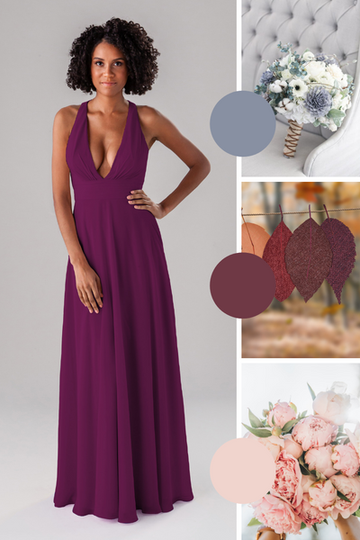 Hope Kennedy Blue bridesmaid dresses | Fall Wedding Colors