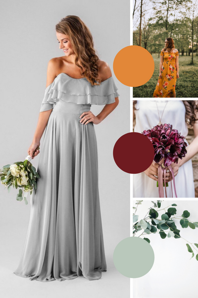 Allison Kennedy Blue Bridesmaid Dresses | Fall Wedding Colors