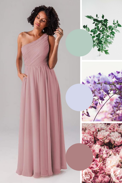 Athena Kennedy Blue Bridesmaid Dresses | Fall Wedding Colors