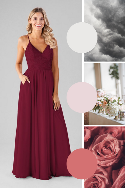 Cameron Kennedy Blue Bridesmaid Dresses | Fall Wedding Colors