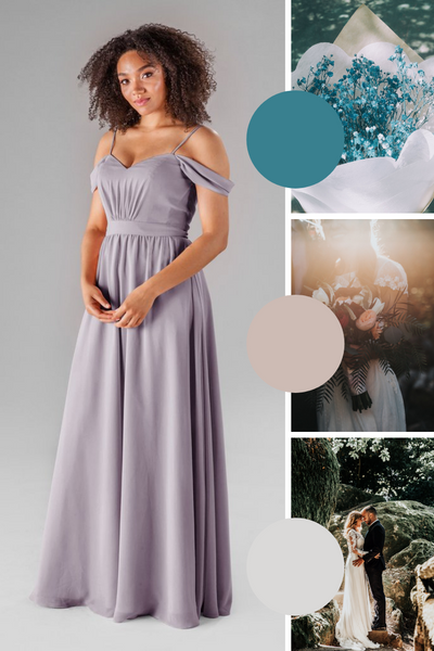 Thea Kennedy Blue Bridesmaid Dresses | Fall Wedding Colors