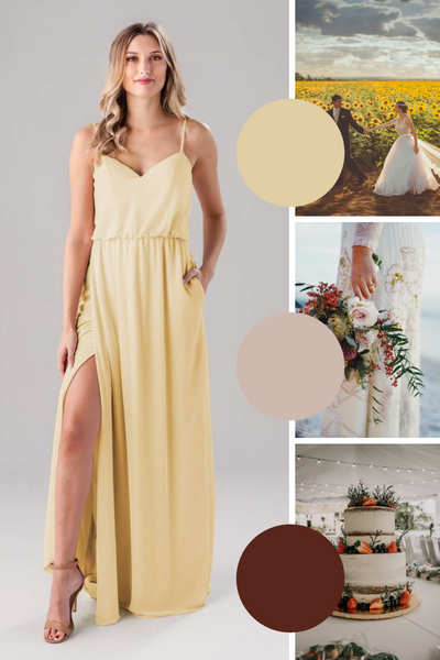 Lauren Kennedy Blue Bridesmaid Dresses | Fall Wedding Colors