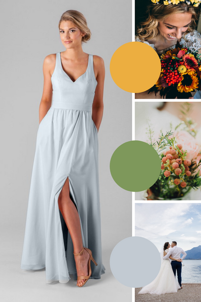 Riley Kennedy Blue Bridesmaid Dresses | Fall Wedding Colors