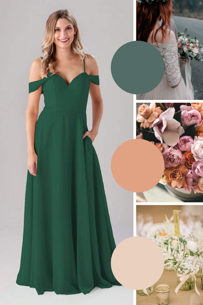 Samantha Kennedy Blue Bridesmaid Dresses | Fall Wedding Colors
