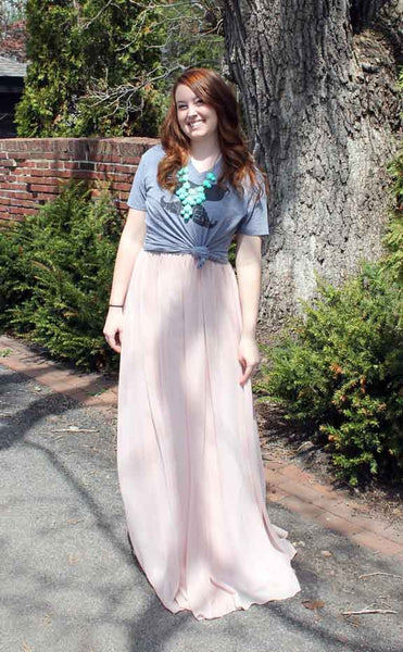 Top your dress with a cropped vintage tee | How to Re-Style A Bridesmaid Dress For Fall