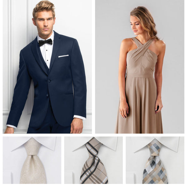 edf99bb7ad3b Your Guide to Coordinating Groomsmen and Bridesmaids | Kennedy Blue | Jim's  Formal Wear
