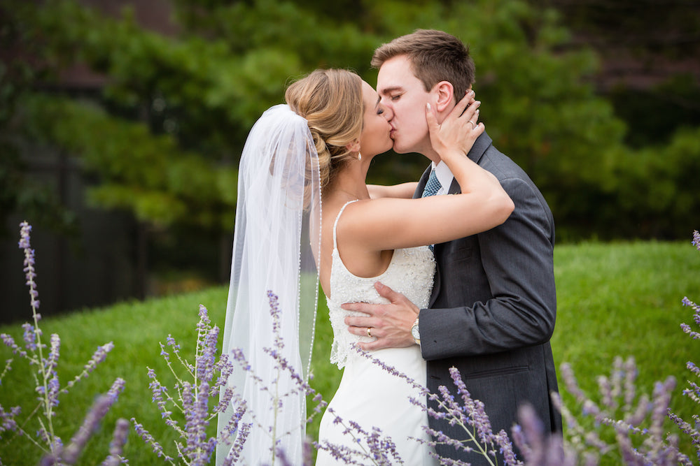 First-Look-Kiss-Couple-Shot-Annie-Ryan-Wedding-Kennedy-Blue