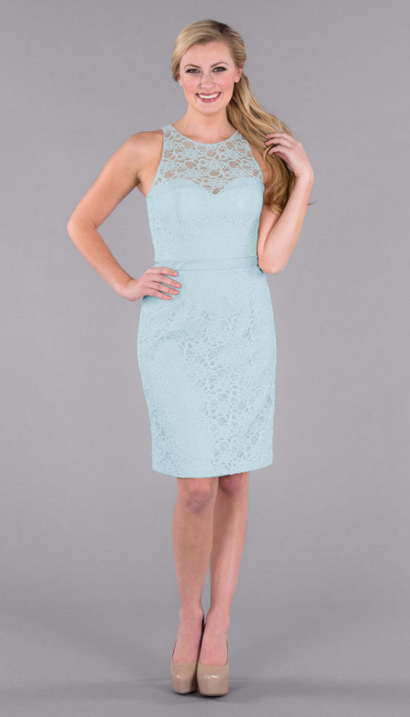 Kennedy Blue Short Lace Hazel Bridesmaid Dress in Mint