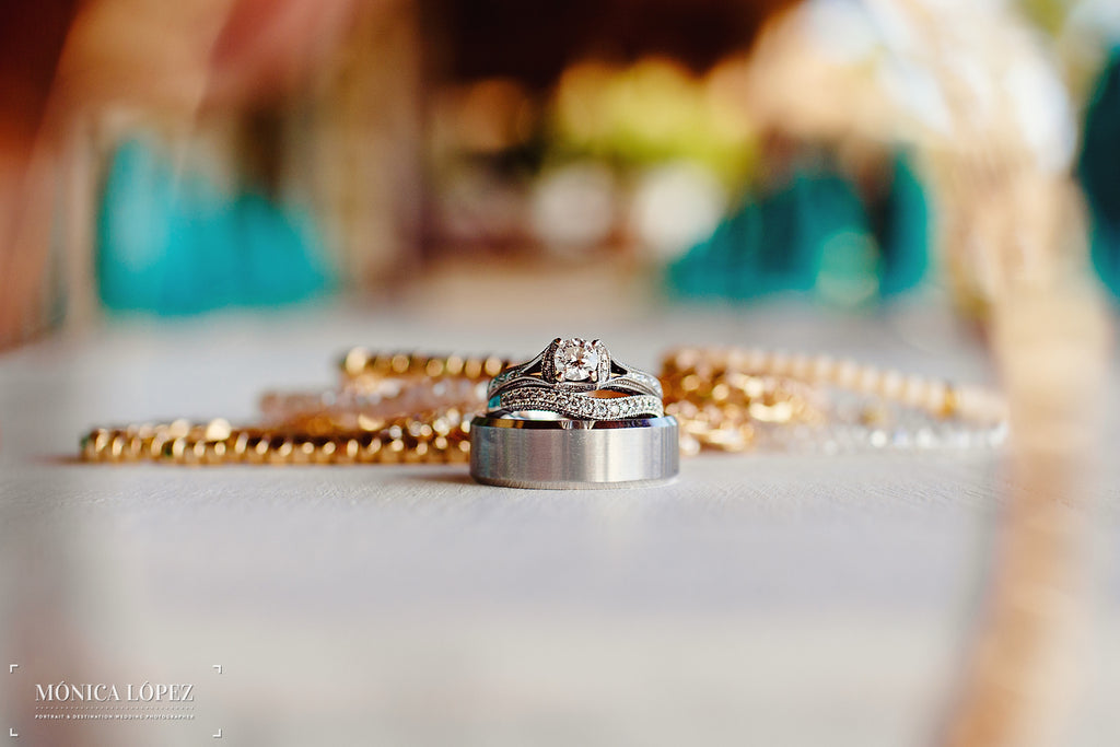 A Beautiful Shot of Wedding Bands | A One-Of-A-Kind Destination Wedding