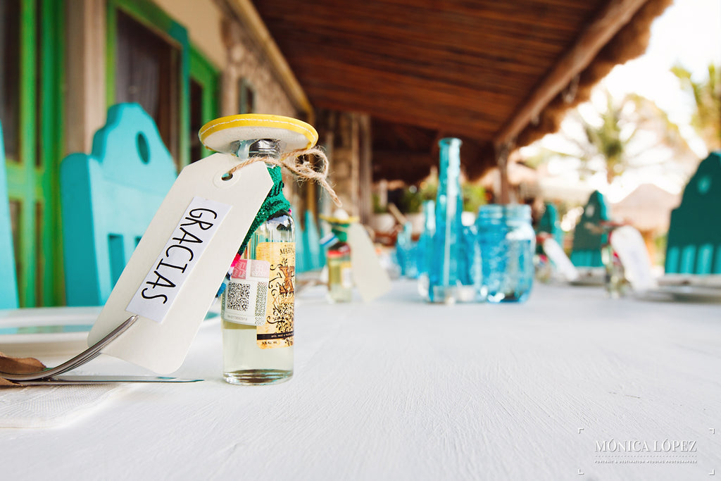 Mexican tequila as a wedding favor | A One-Of-A-Kind Destination Wedding