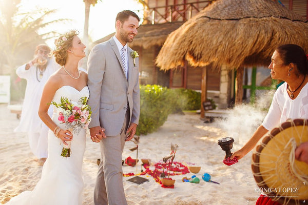 A beautiful destination wedding in Mexico | Kennedy Blue bridal gown Hailey