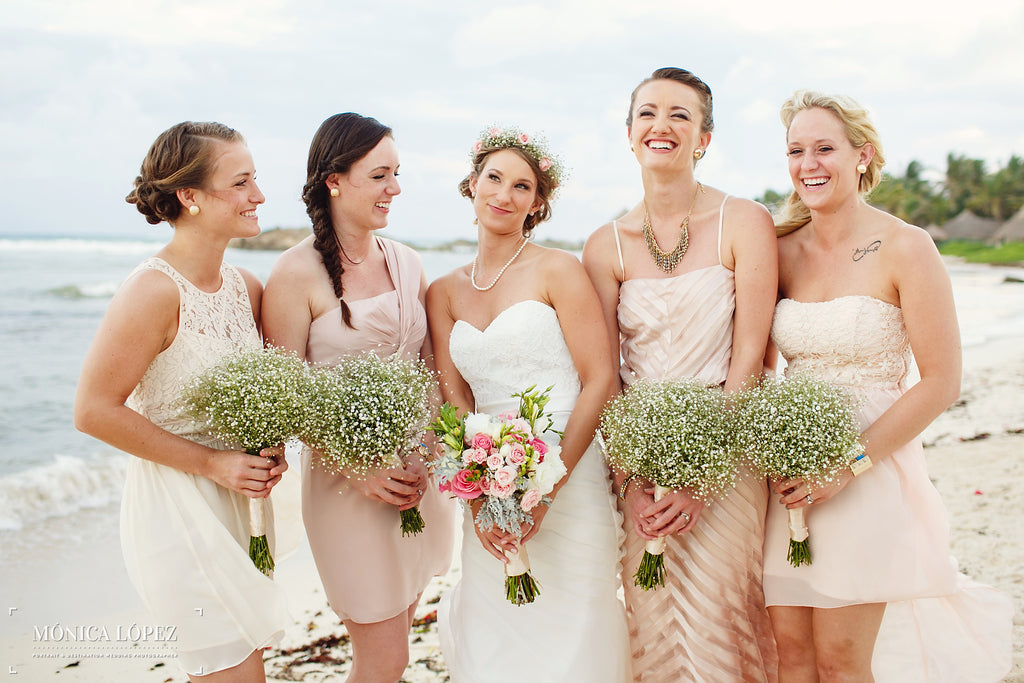 A Bride and Her Bridesmaids Celebrating Her Special Day | A One-Of-A-Kind Destination Wedding