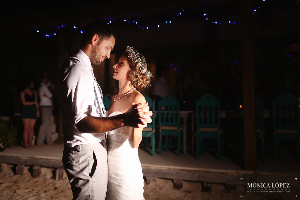 The wedding couple's first dance. | A One-Of-A-Kind Destination Wedding
