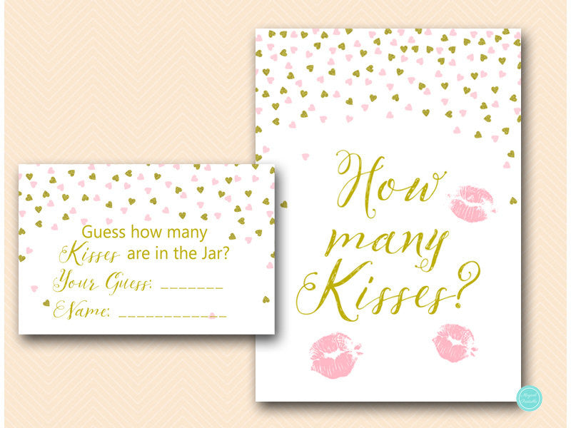 'How Many Kisses Are In The Jar?' is such a fun bridal shower game! | 52 Awesome Bridal Shower Ideas | Kennedy Blue | Magical Printable